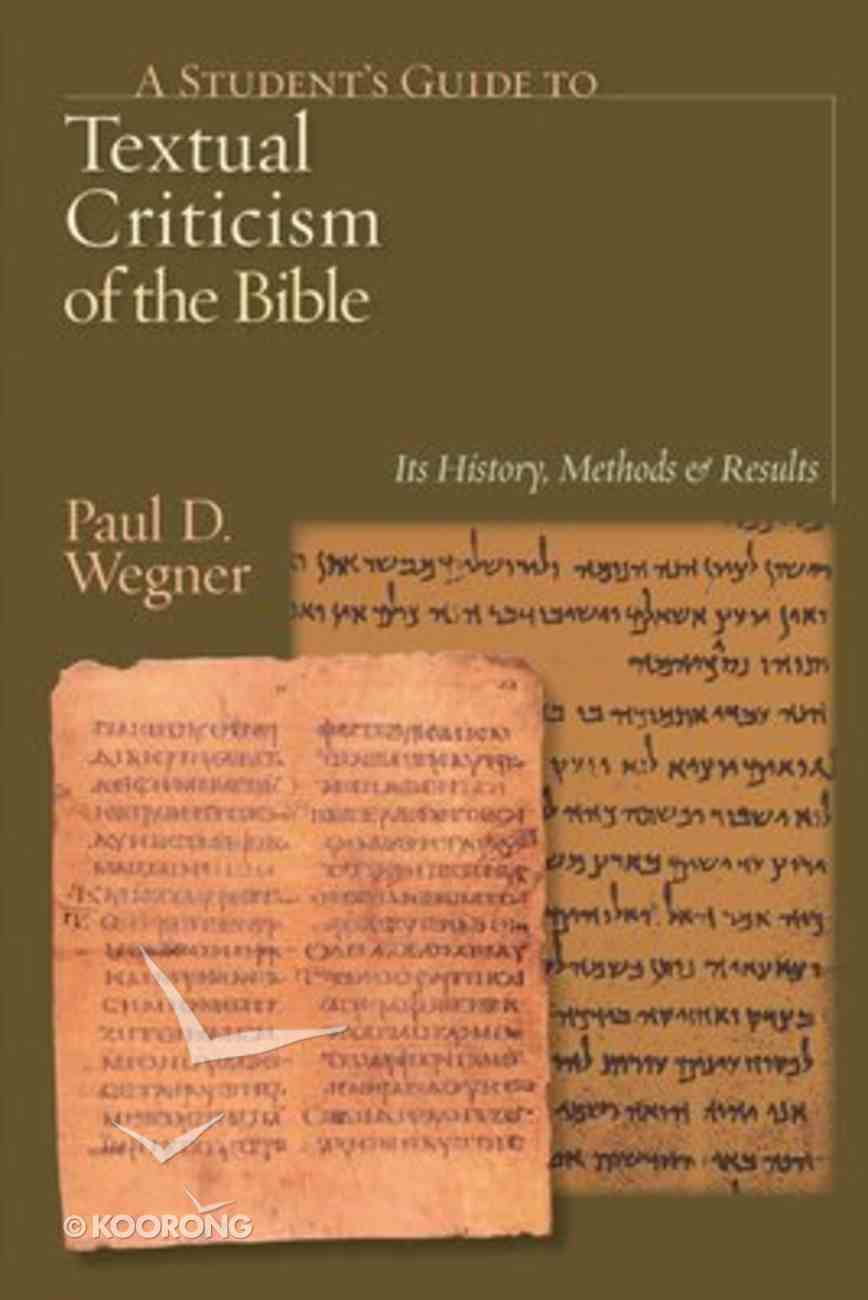 A Student's Guide to Textual Criticism of the Bible Paperback