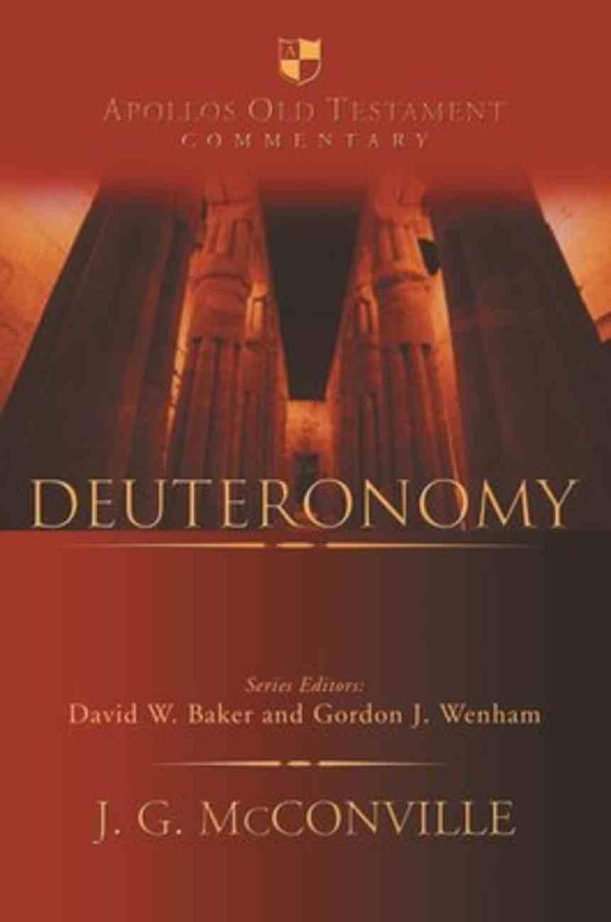 Deuteronomy (Apollos Old Testament Commentary Series) Hardback