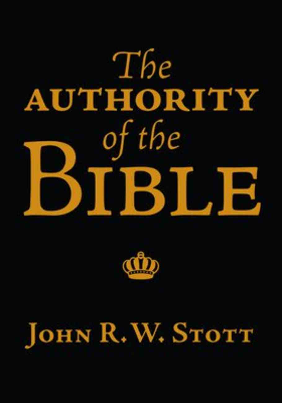 The Authority of the Bible Booklet