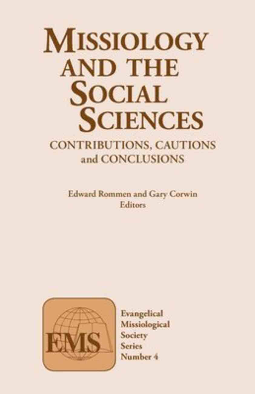 Emss #04: Missiology and the Social Sciences Contributions Paperback