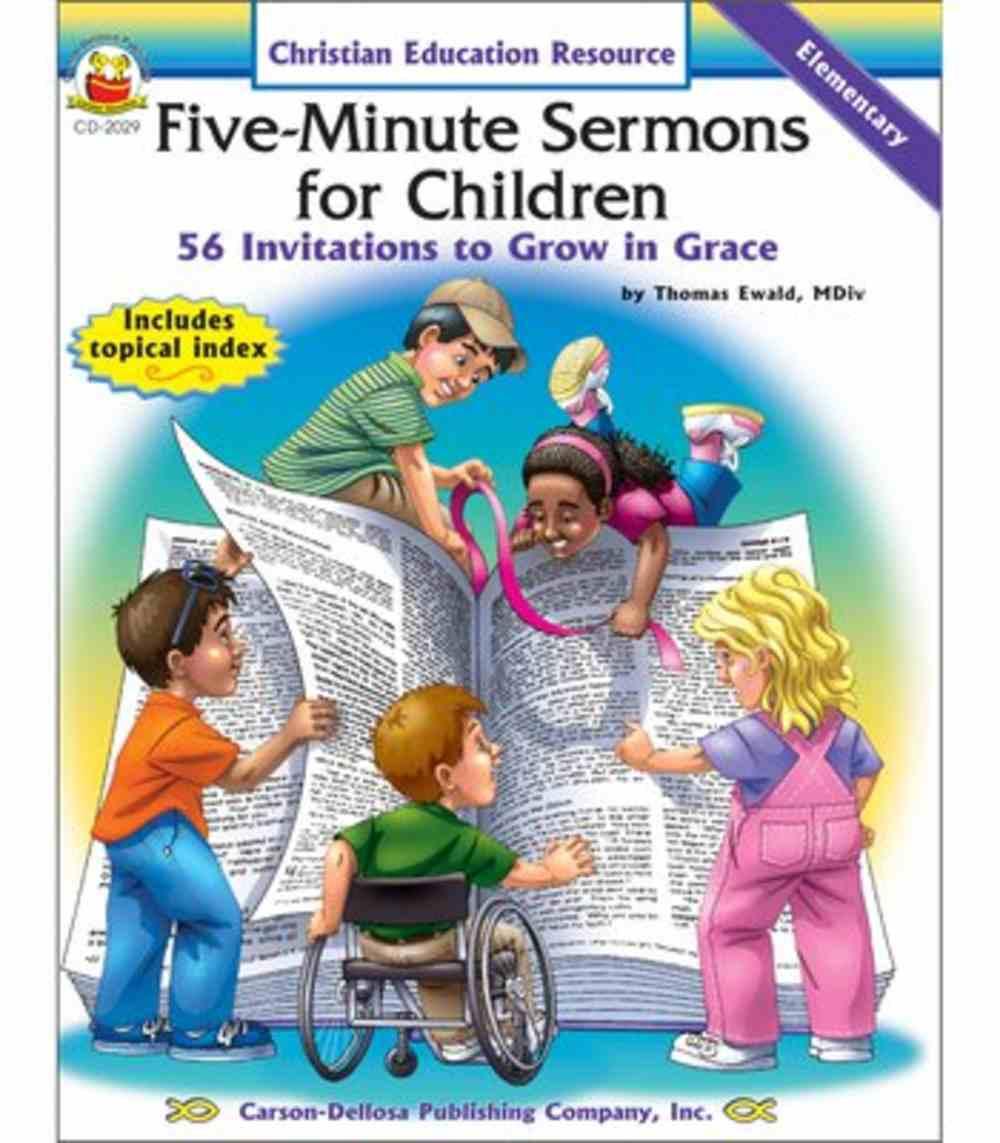 Five-Minute Sermons For Children (Elementary) Paperback