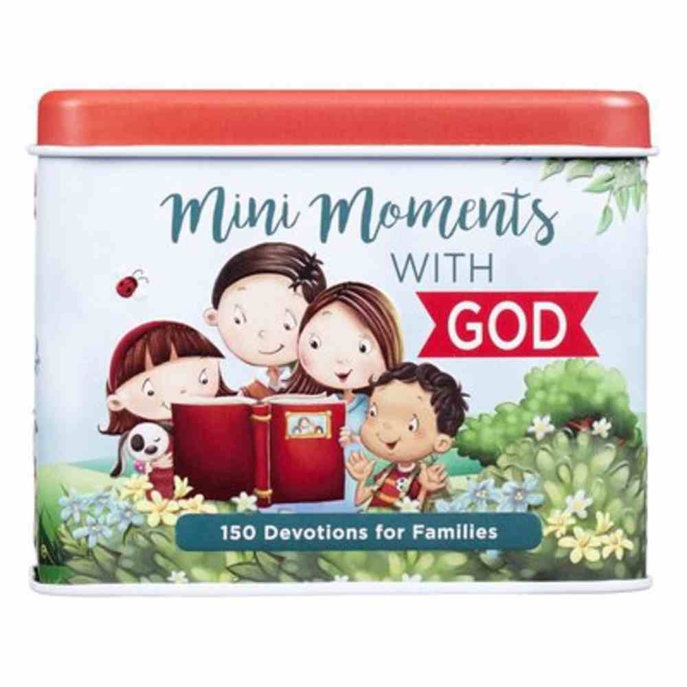 Devotional Cards in Tin: Mini Moments With God- 150 Devotions For Families Box