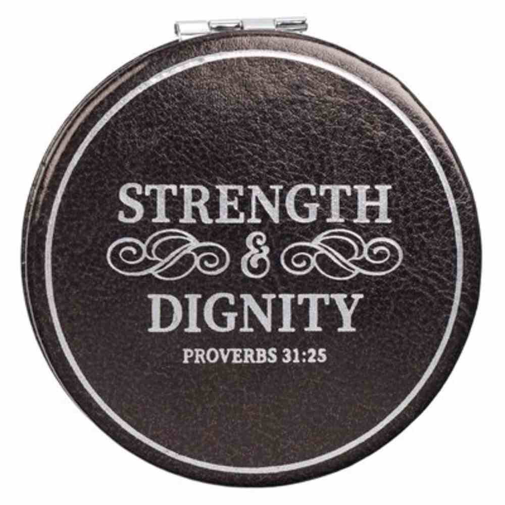 Compact Mirror: Strength & Dignity, Faux Leather Cover Homeware