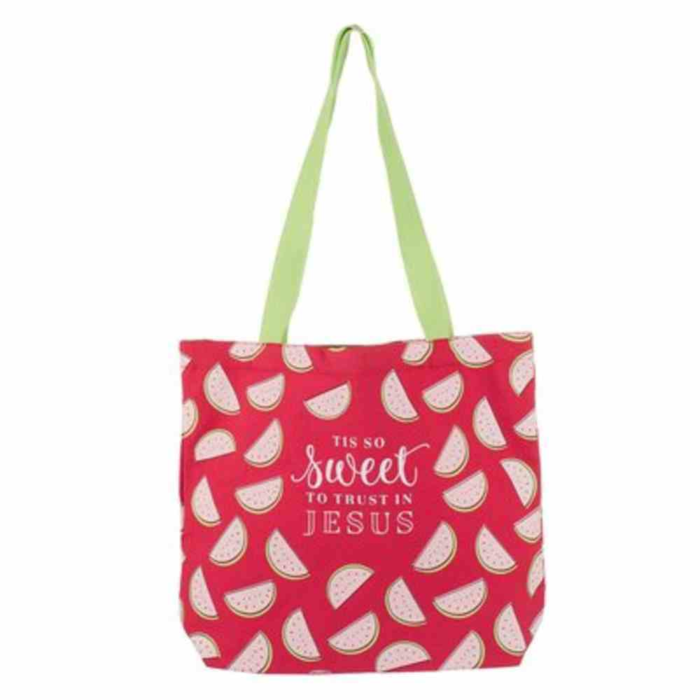 Canvas Tote Bag: Sweet to Trust in Jesus, Pink Soft Goods