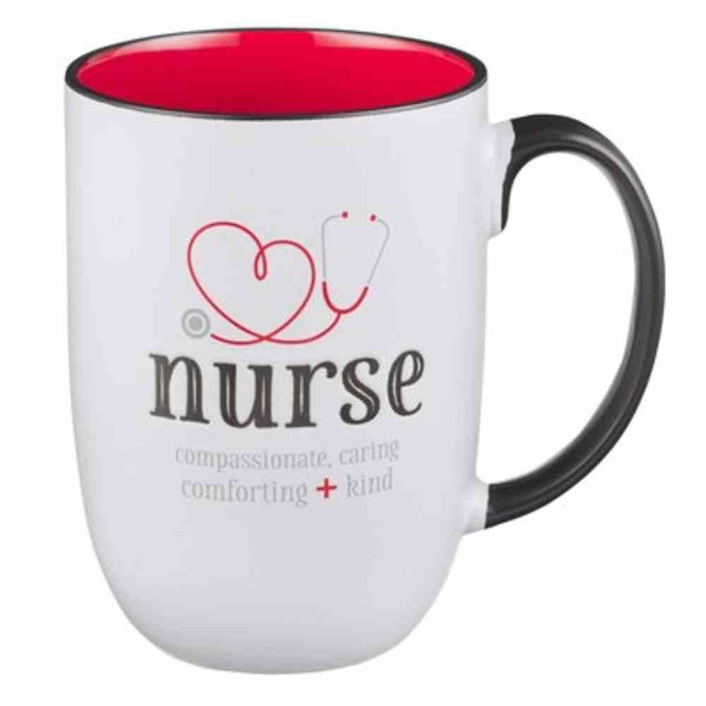 Ceramic Mug: Nurse, Red Inside (444ml) Homeware