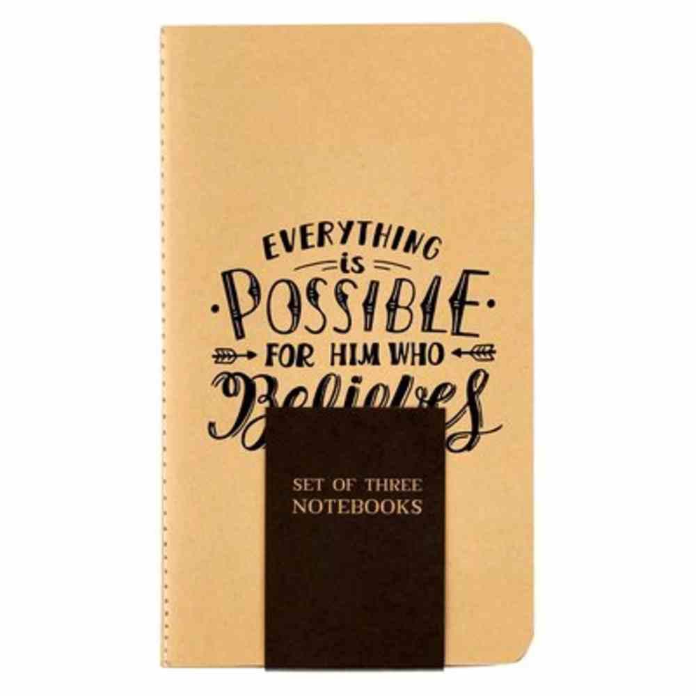 Notebook: Rejoice, Neutral (Set Of 3) Paperback