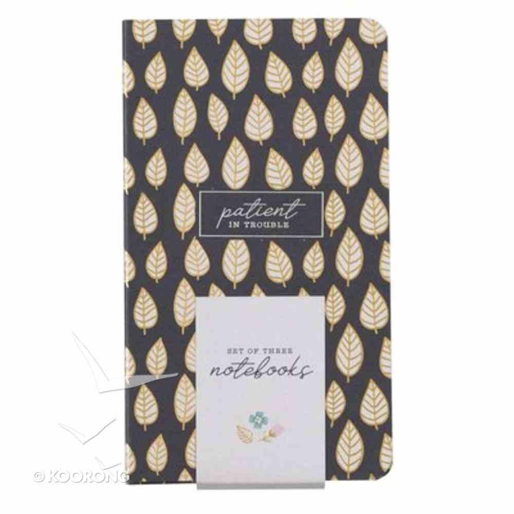 Notebook: Joyful, Navy (Set Of 3) Paperback