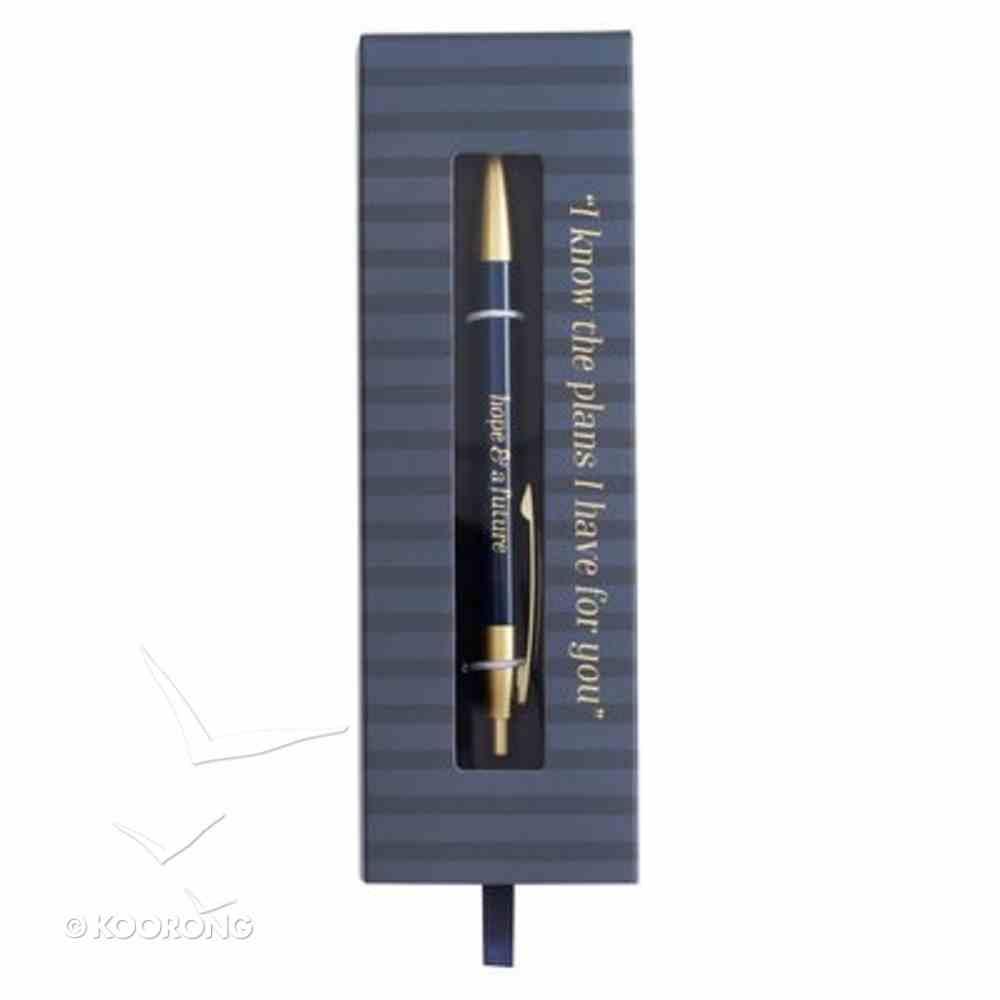Pen Laser Engraved, Navy (Jer 29: 11) (Graduation Collection) Stationery