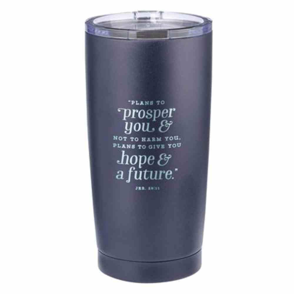 Stainless Steel Mug : Navy (Jer 29:11) (532ml) (Graduation Collection) Homeware