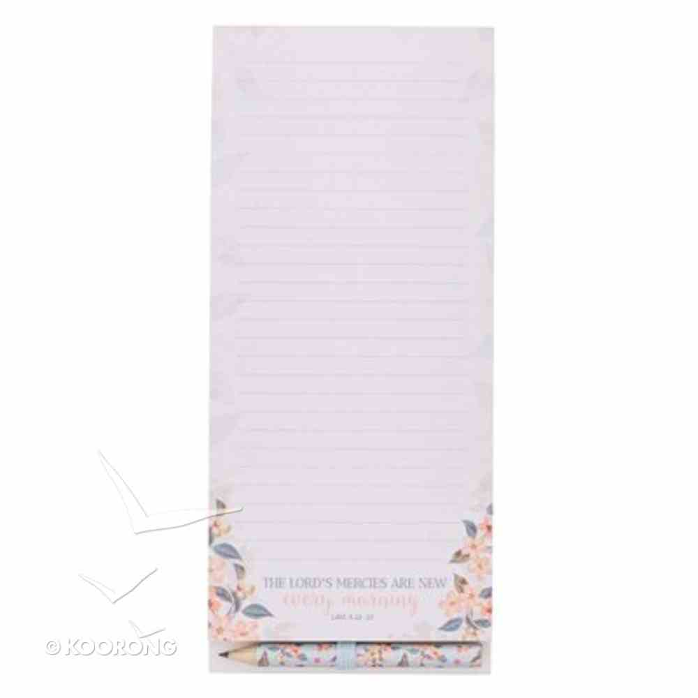 Magnetic Notepad With Pencil: New Every Morning Stationery