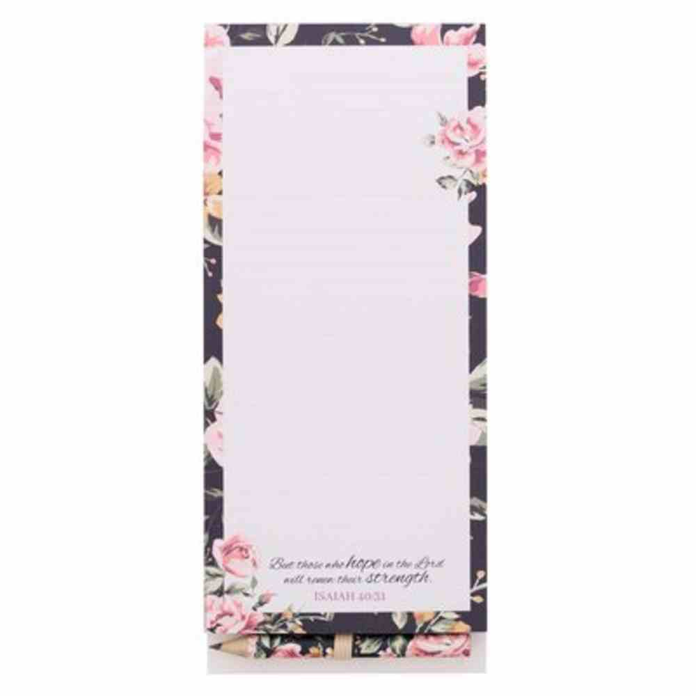 Magnetic Notepad With Pencil: Hope (Isaiah 40:31) Stationery