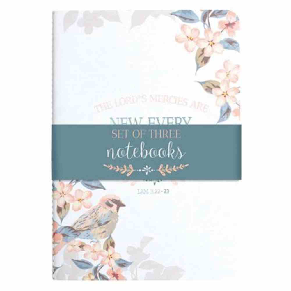 Notebook: New Every Morning, Birds (Set Of 3) Paperback