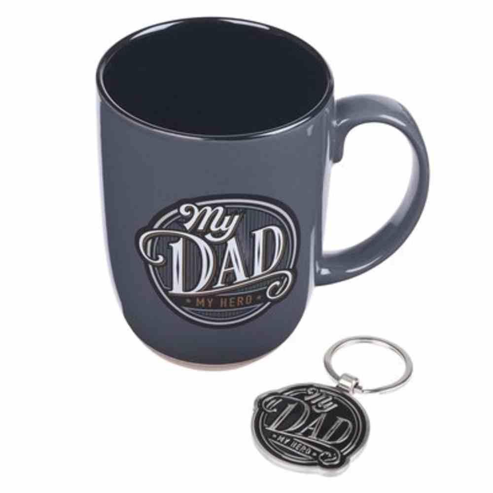 Boxed Gift Set: Dad's Mug & Metal Keyring With Scripture Verse (444ml) Pack