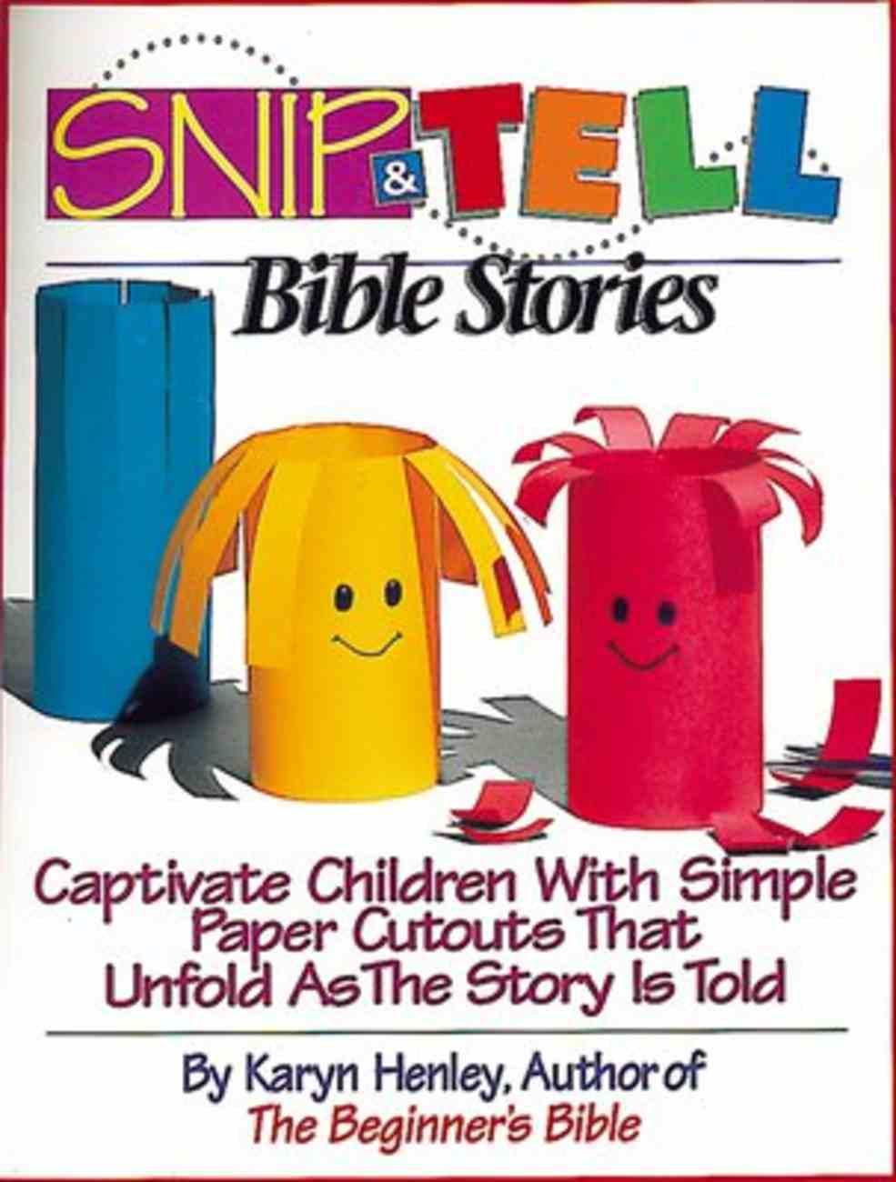 Snip & Tell Bible Stories Paperback