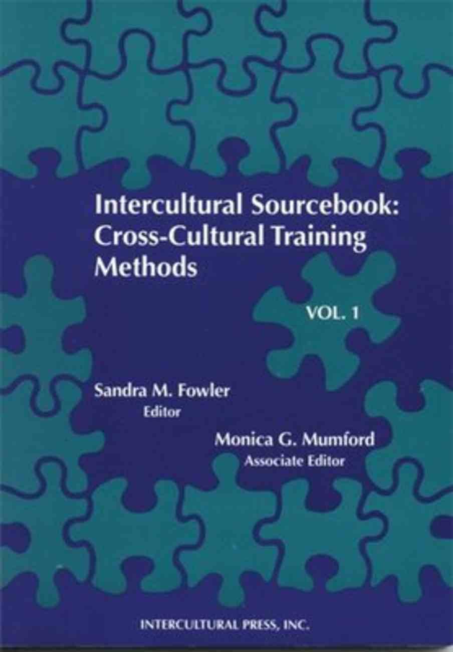 Intercultural Sourcebook: Cross Cultural Training Methods Paperback