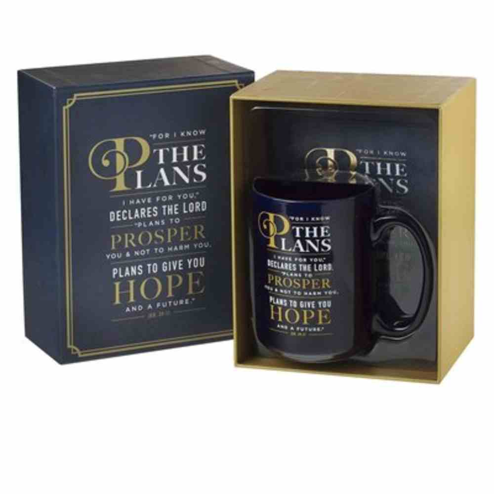 Boxed Gift Set: Journal and Ceramic Mug Graduation (Jer 29:11) Navy and Gold (414ml) Pack