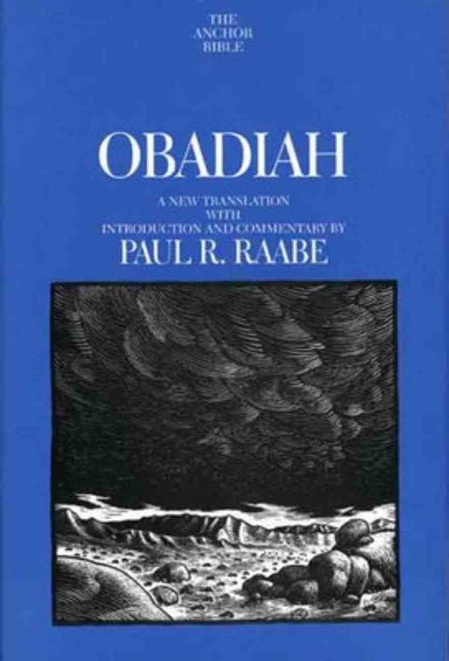 Obadiah (Anchor Yale Bible Commentaries Series) Hardback