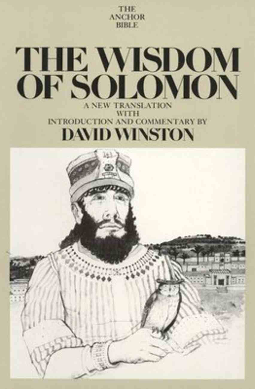 The Wisdom of Solomon (Anchor Yale Bible Commentaries Series) Hardback