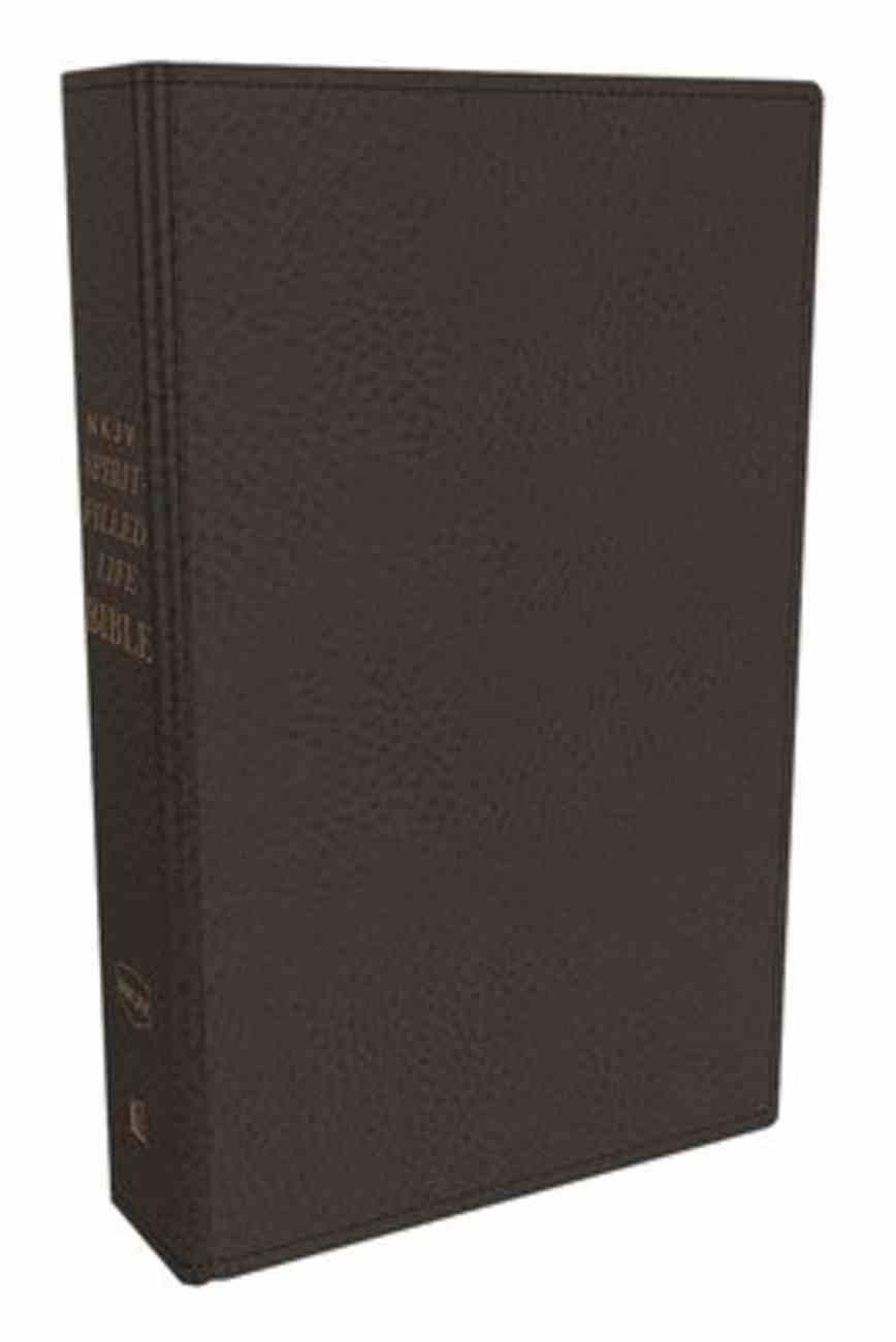 NKJV Spirit-Filled Life Bible Black Indexed (Red Letter Edition) (Third Edition) Genuine Leather