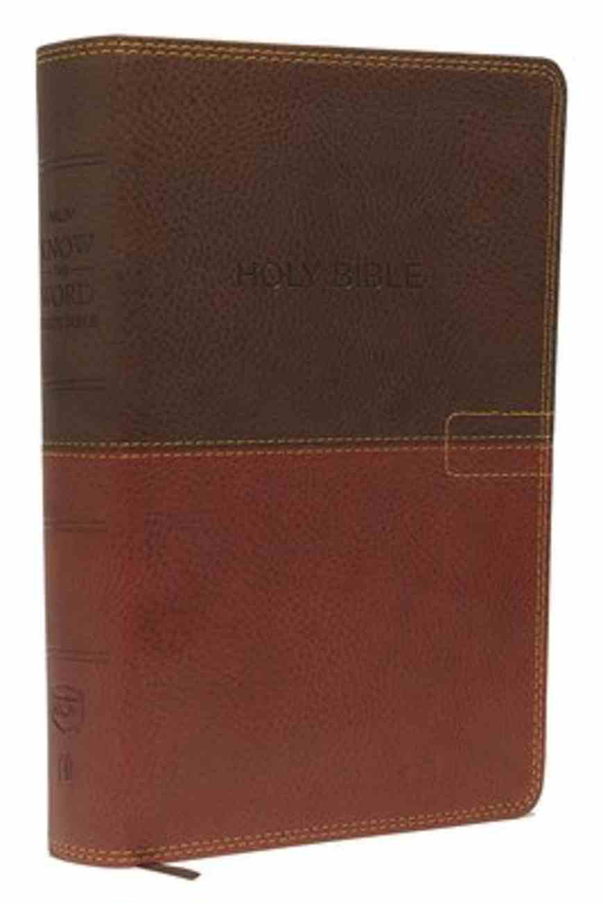 NKJV Know the Word Study Bible Brown Caramel (Red Letter Edition) Imitation Leather