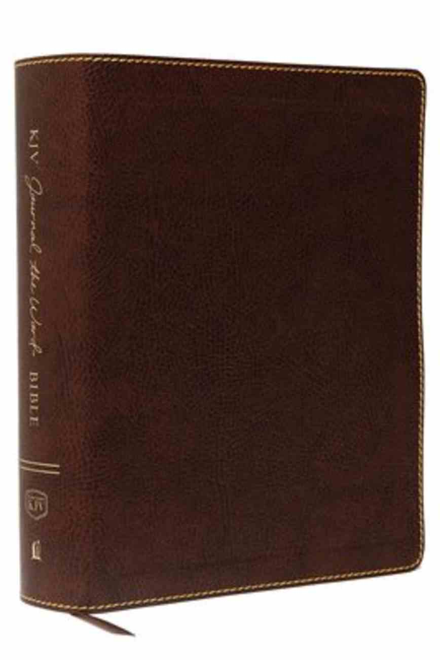 KJV Journal the Word Bible Large Print Brown (Red Letter Edition) Bonded Leather