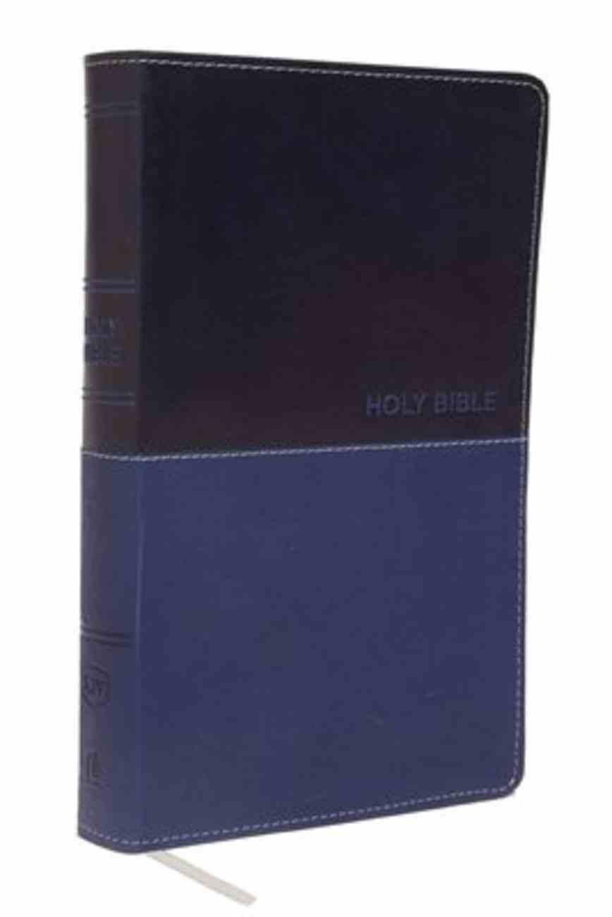 KJV Deluxe Gift Bible Blue (Red Letter Edition) Premium Imitation Leather