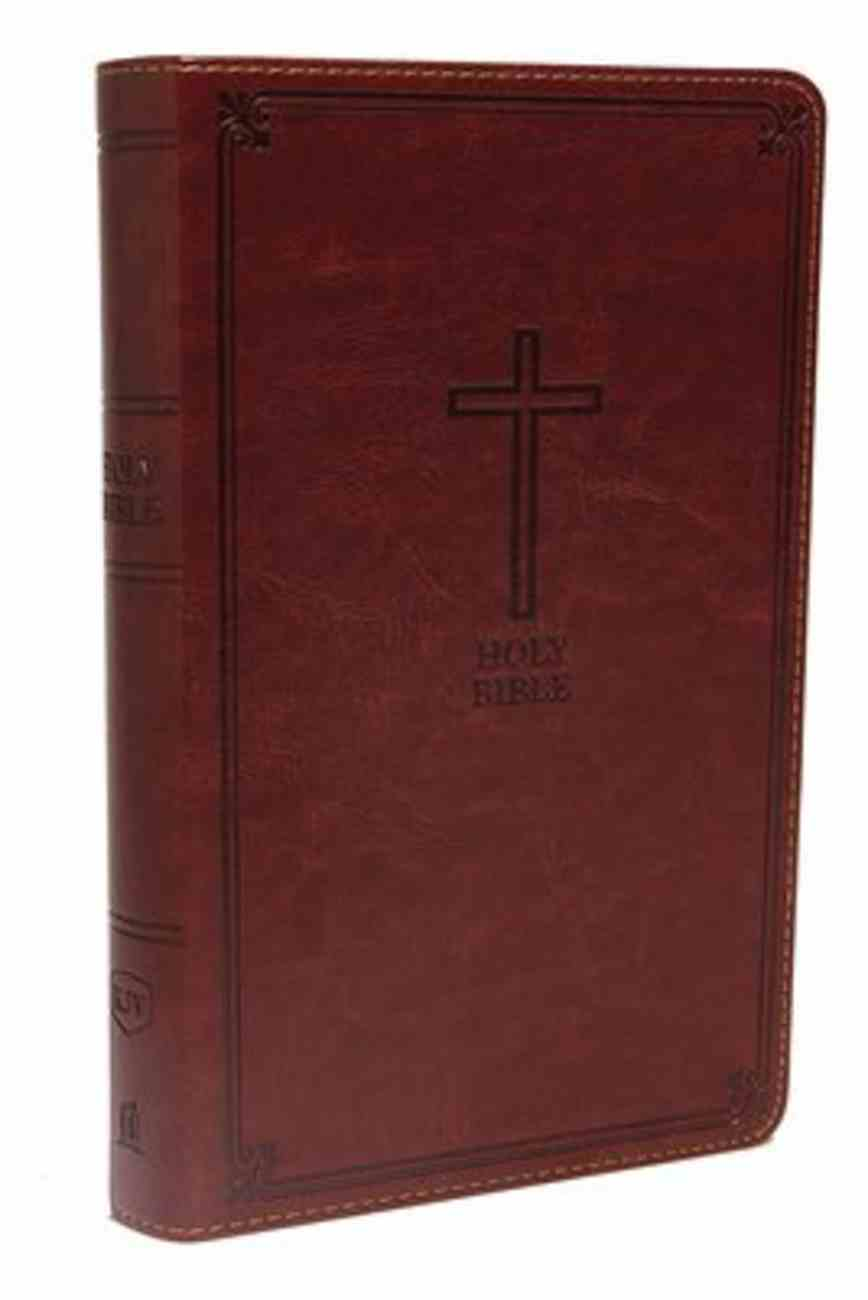 KJV Deluxe Gift Bible Rich Auburn (Red Letter Edition) Premium Imitation Leather