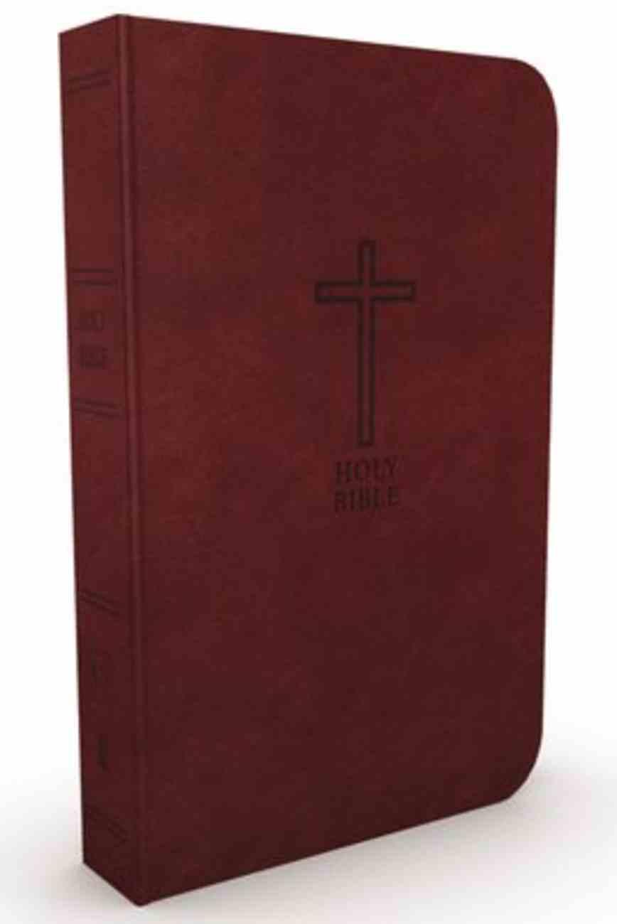 KJV Value Thinline Bible Large Print Burgundy (Red Letter Edition) Premium Imitation Leather