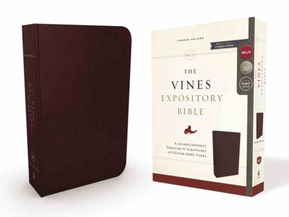 NKJV Vines Expository Bible Burgundy (Red Letter Edition) Bonded Leather