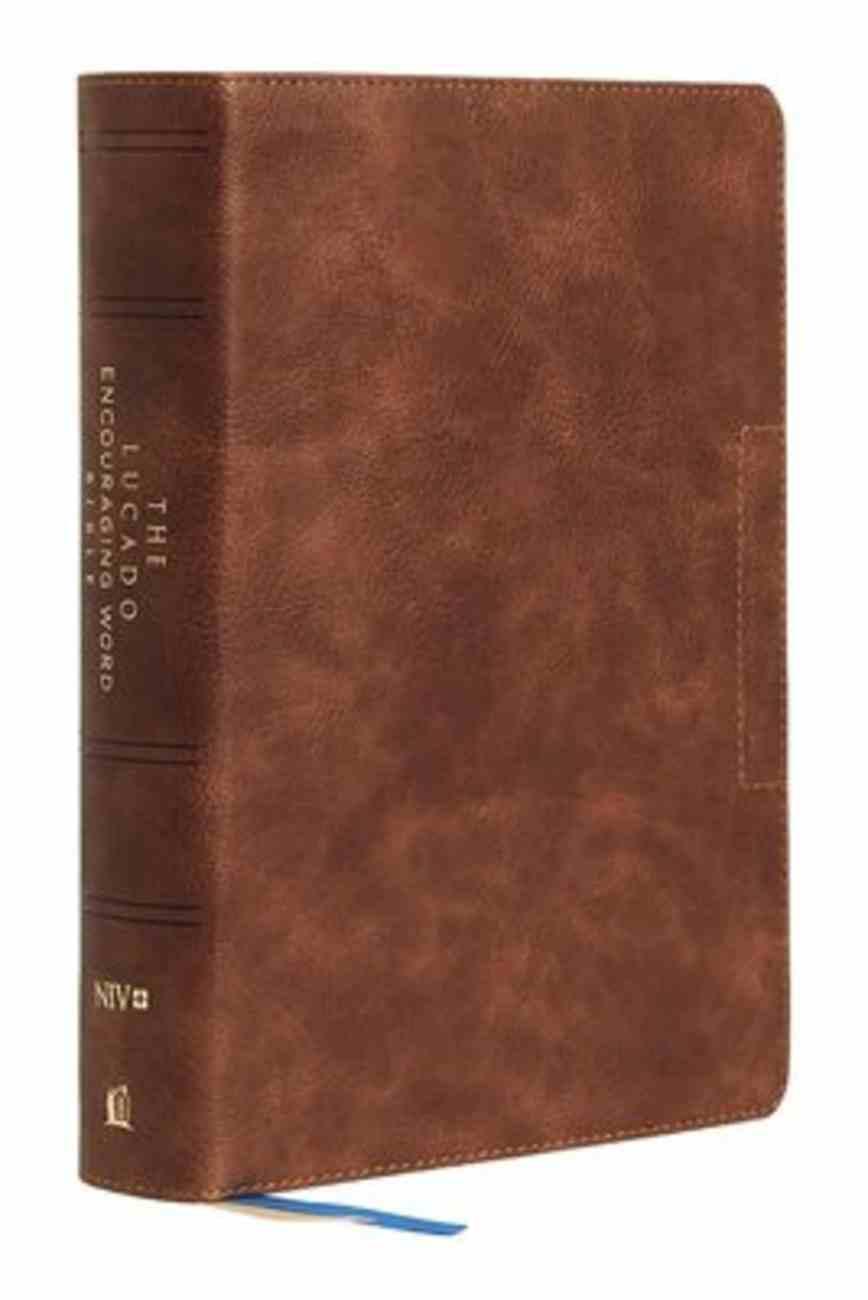 NIV Lucado Encouraging Word Bible Indexed Brown Premium Imitation Leather