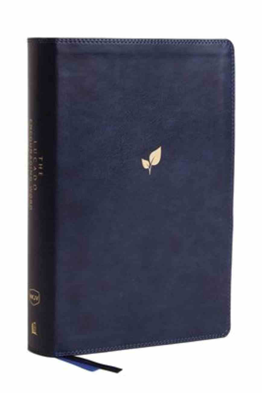 NKJV Lucado Encouraging Word Bible Blue Indexed Premium Imitation Leather