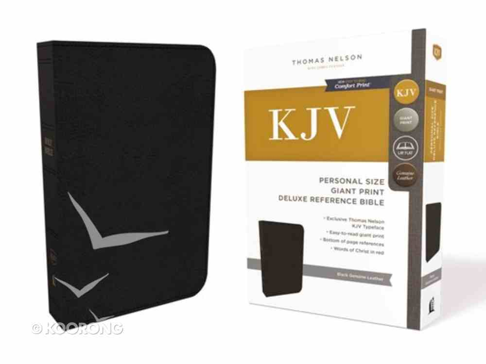 KJV Reference Bible Personal Size Giant Print Black (Red Letter Edition) Genuine Leather