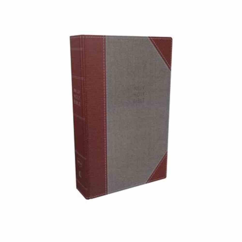NKJV Reference Bible Super Giant Print Gray/Red (Red Letter Edition) Hardback