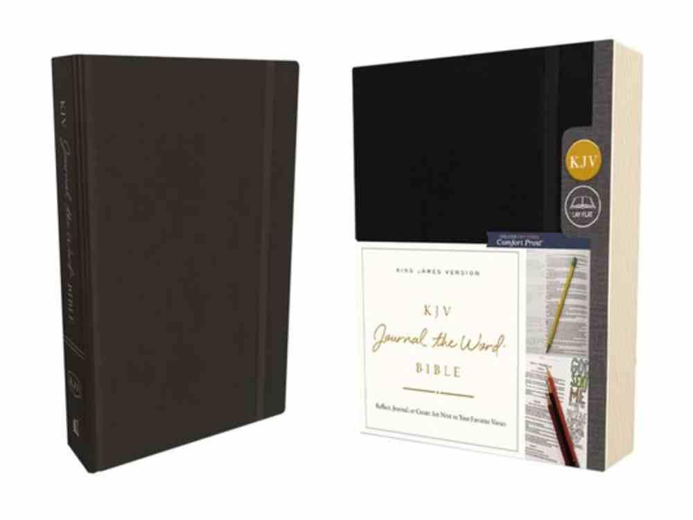 KJV Journal the Word Bible Black (Red Letter Edition) Hardback