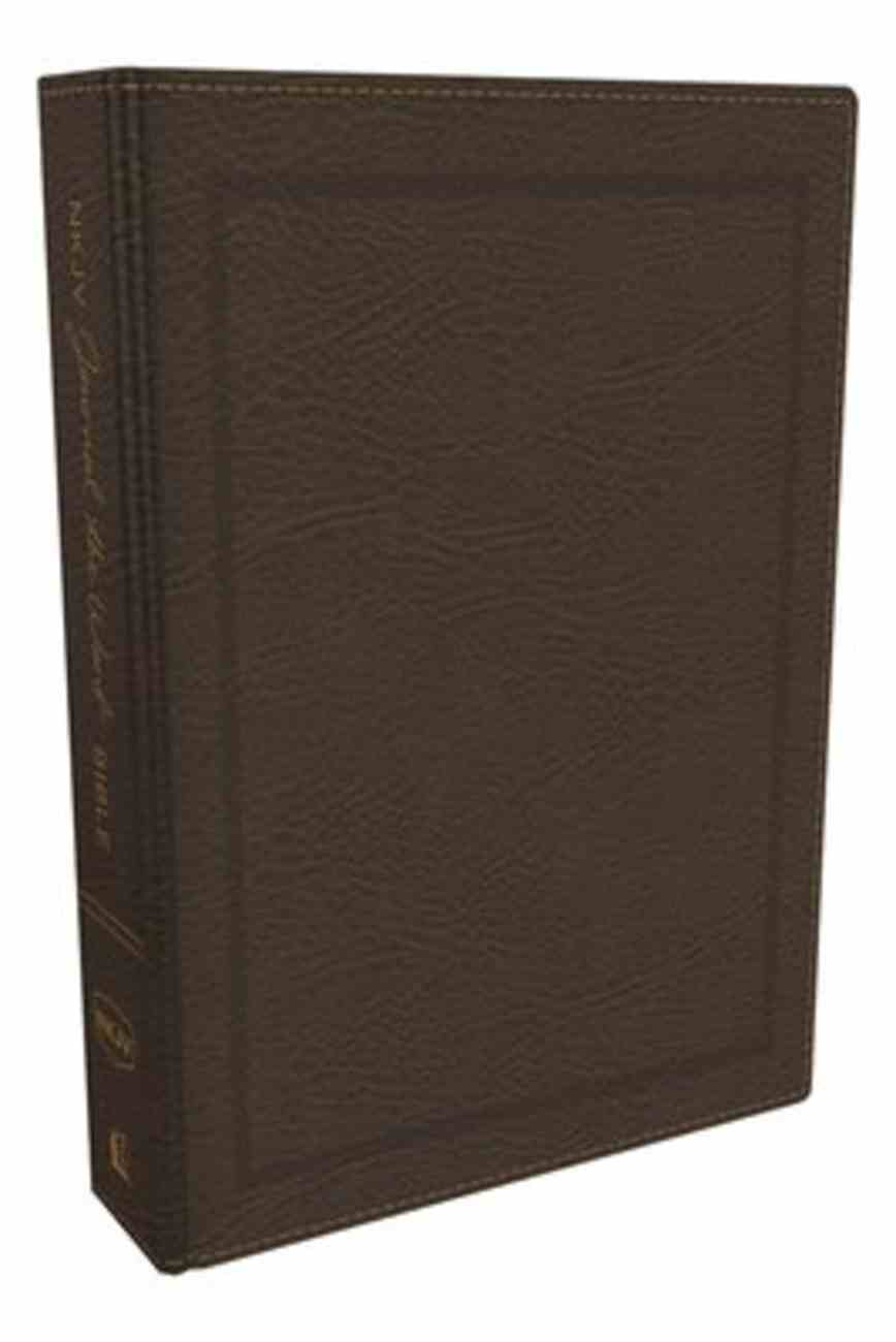 NKJV Journal the Word Bible Brown (Red Letter Edition) Bonded Leather