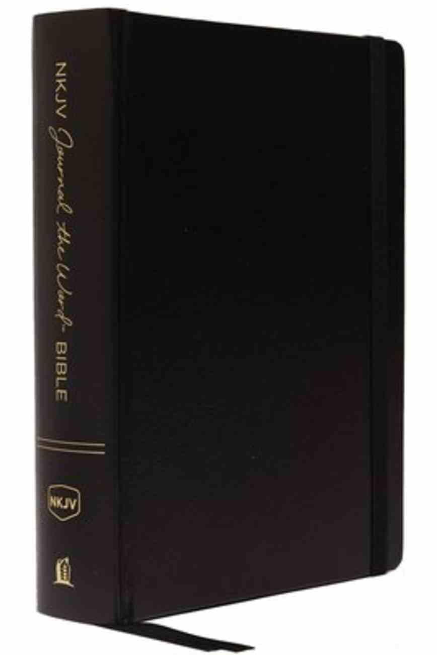 NKJV Journal the Word Bible Black (Red Letter Edition) Hardback