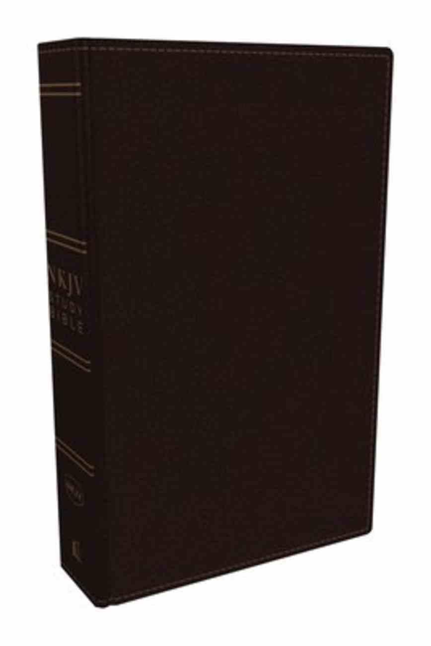 NKJV Study Bible Burgundy (Black Letter Edition) Bonded Leather