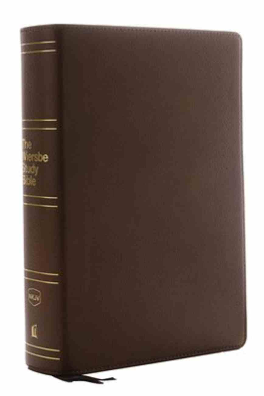 NKJV Wiersbe Study Bible Brown Indexed Genuine Leather