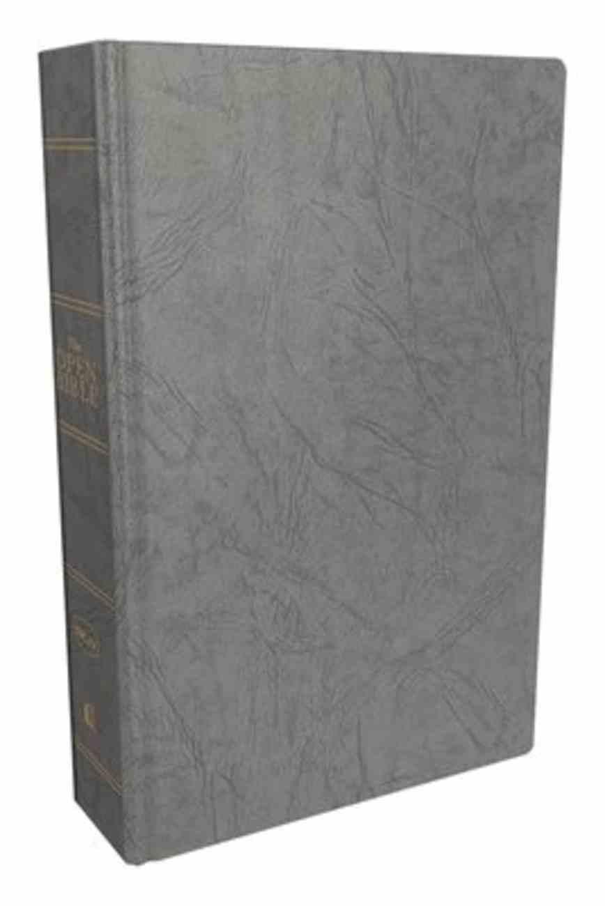 NKJV Open Bible (Red Letter Edition) Hardback