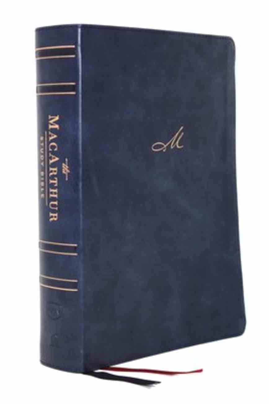NKJV Macarthur Study Bible Blue Indexed (2nd Edition) Premium Imitation Leather