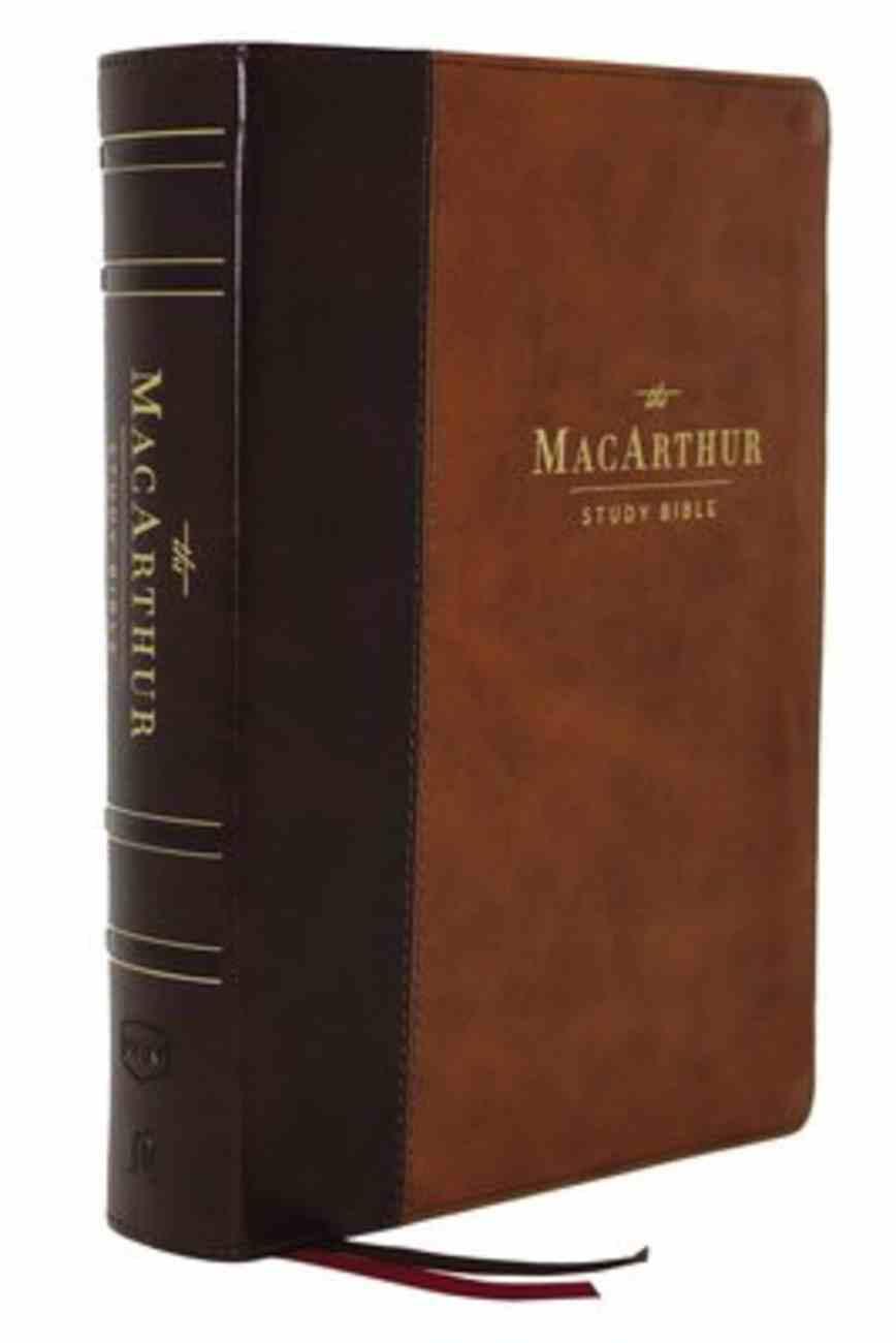 NKJV Macarthur Study Bible Brown (2nd Edition) Premium Imitation Leather