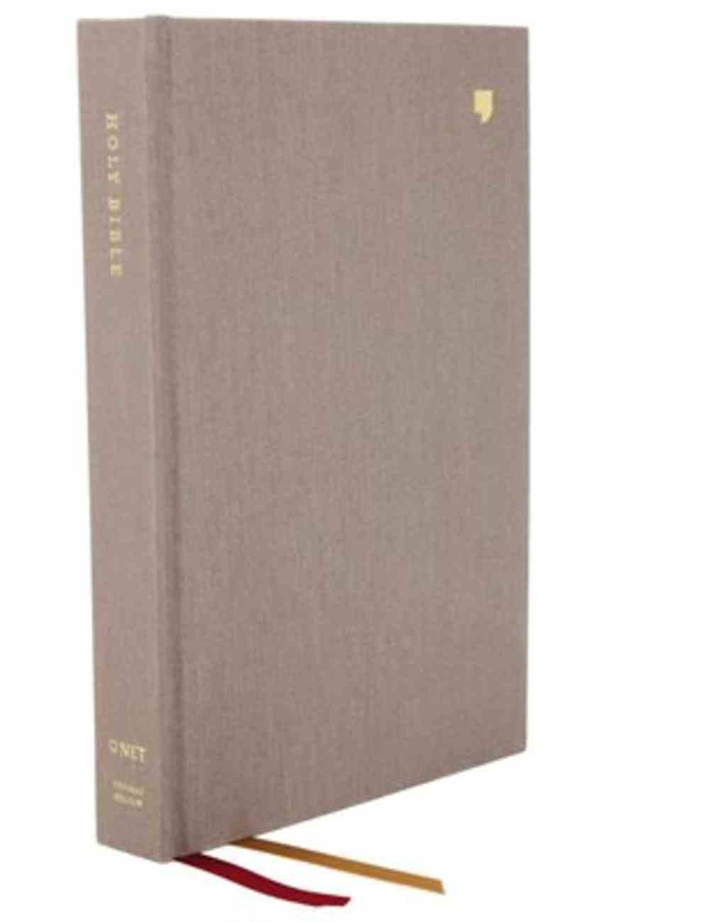 NET Bible Thinline Large Print Gray Fabric Over Hardback