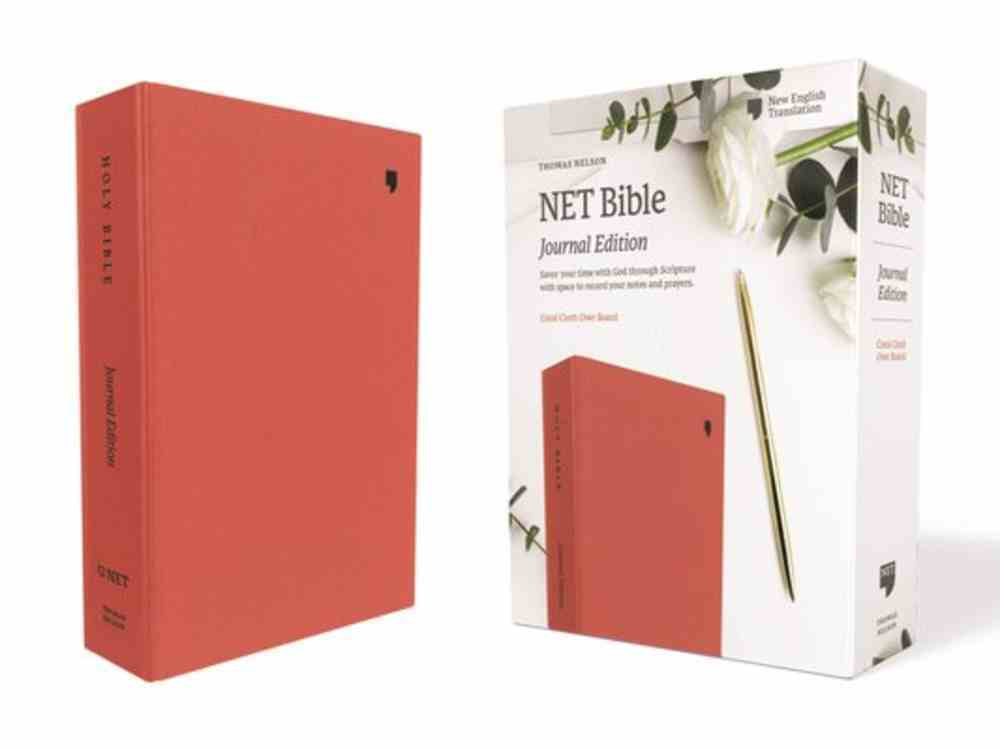 NET Bible Journal Edition Coral Fabric Over Hardback