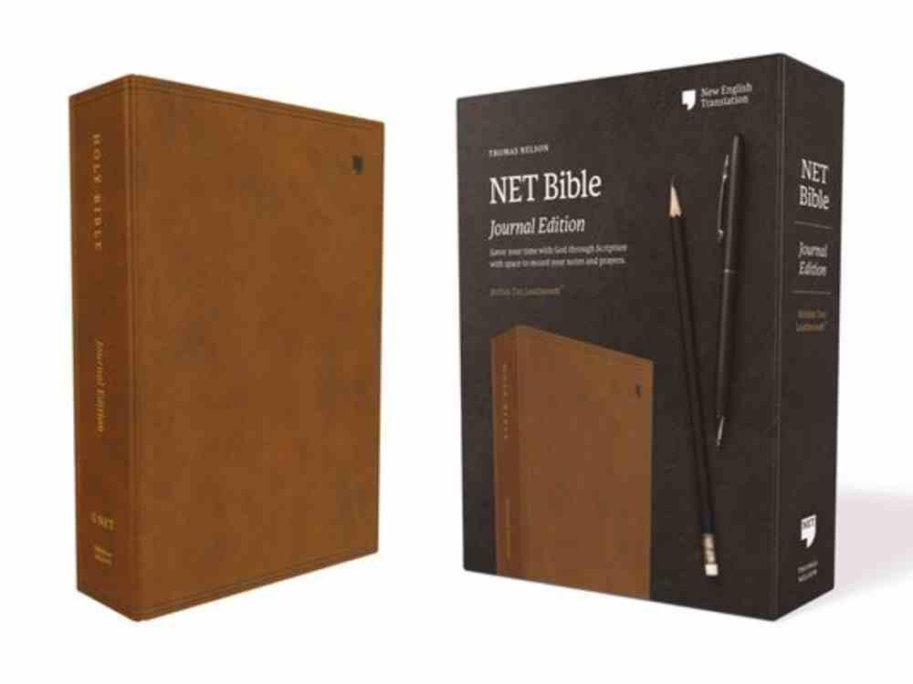 NET Bible Journal Edition Brown Premium Imitation Leather