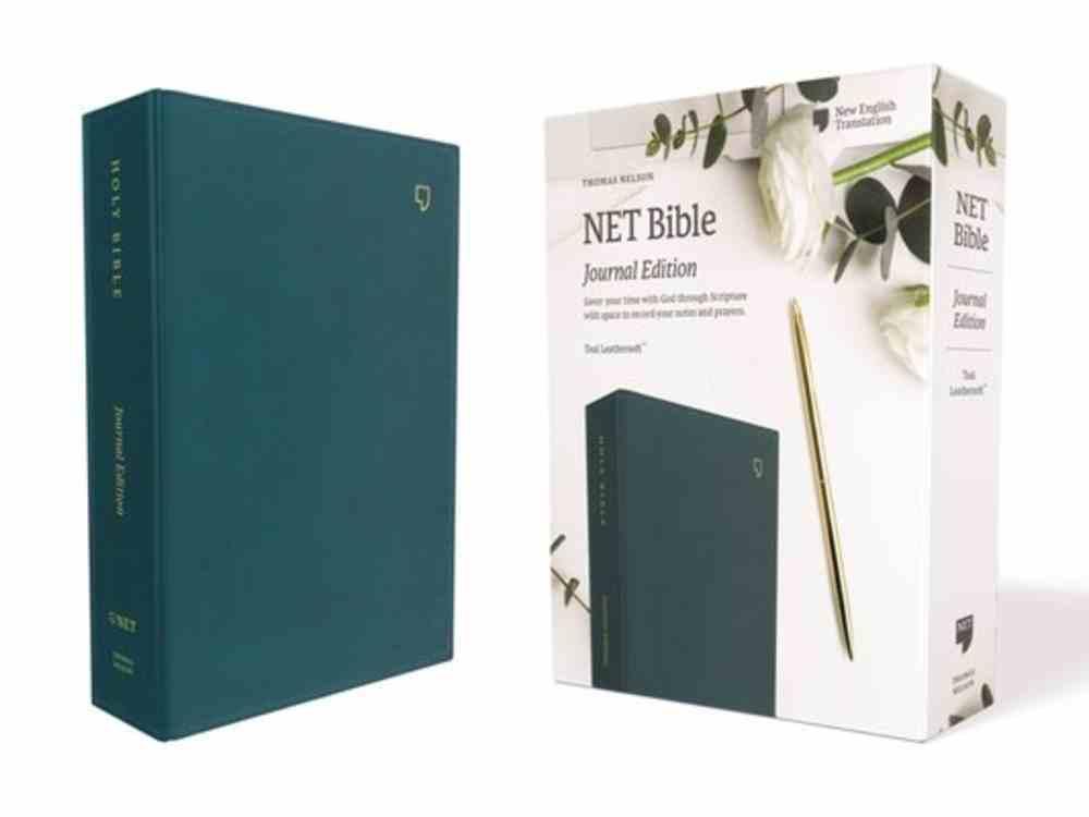 NET Bible Journal Edition Teal Premium Imitation Leather