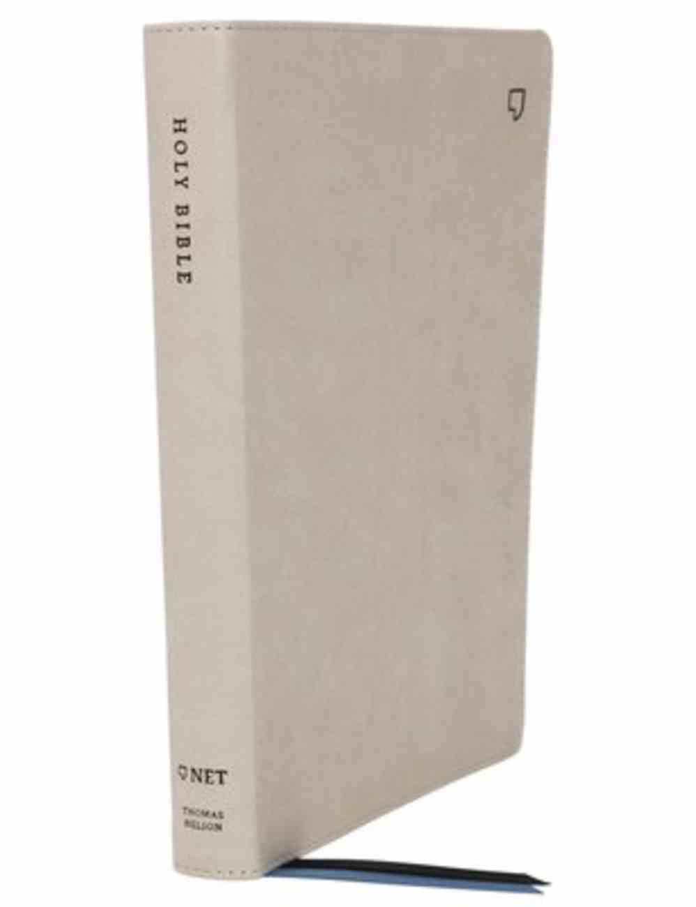 NET Bible Thinline Large Print Stone Premium Imitation Leather