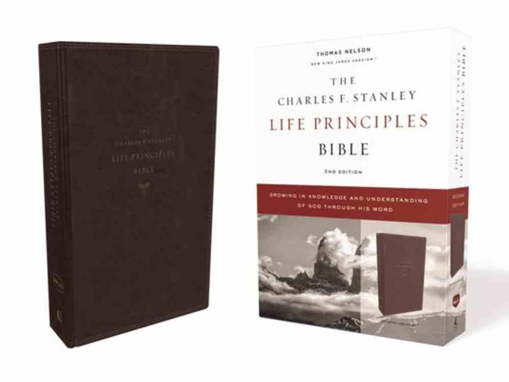 NKJV Charles F. Stanley Life Principles Bible Burgundy (2nd Edition) Premium Imitation Leather