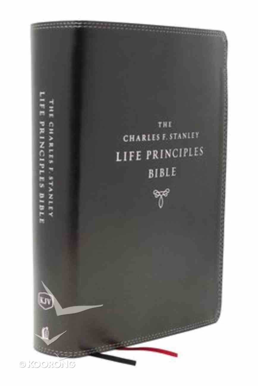 KJV Charles F. Stanley Life Principles Bible Black Indexed (2nd Edition) Premium Imitation Leather