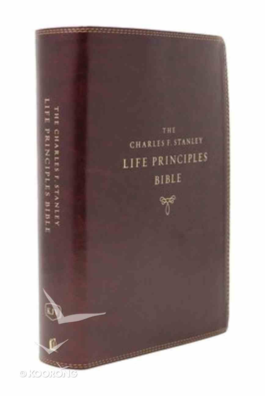 KJV Charles F. Stanley Life Principles Bible Burgundy Indexed (2nd Edition) Premium Imitation Leather