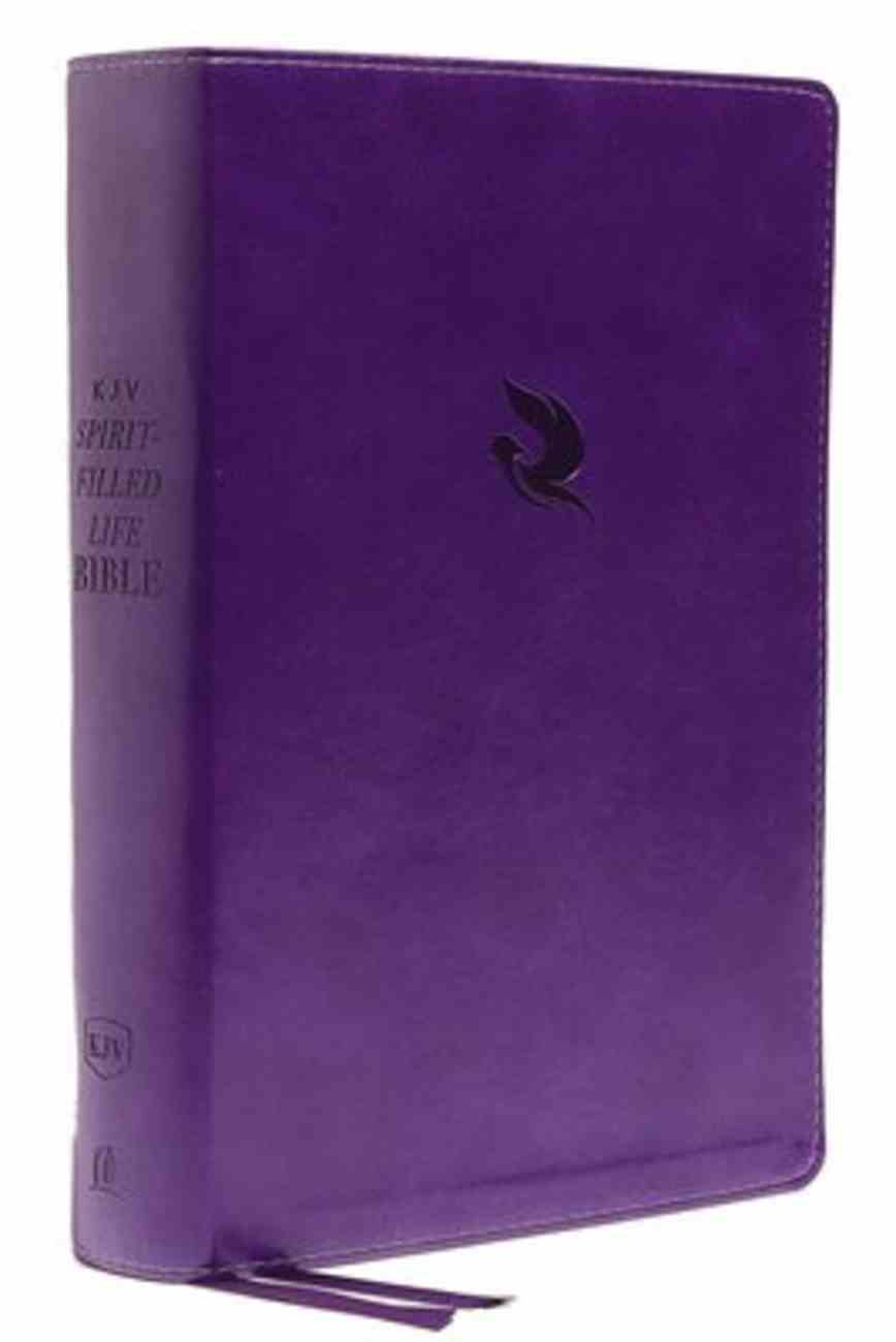 KJV Spirit-Filled Life Bible Purple (Red Letter Edition) (3rd Edition) Premium Imitation Leather
